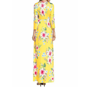 Spring Round Collared Floral Dresses