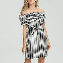 Sexy Off-The-Shoulder Printed Dress