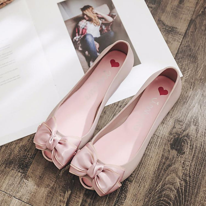 b3c7c0c45c9 Fashion Pure Color Flat Shoes With Bow-Knot