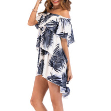 Bohemia Printed Off Shoulder Vacation Dress