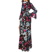 Floral Printed Bohemia Sexy Maxi Vacation Dress