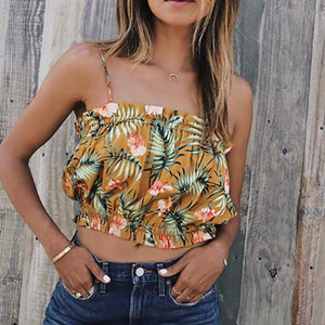 Bohemia Sexy Fashion Printing Strap Top