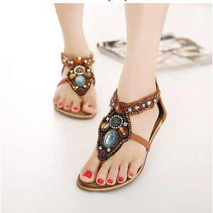 Bohemia Style Sandal Flat With Beach Shoes