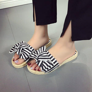 70afa474073 Fashion Pure Color Sandals With Bow-Knot