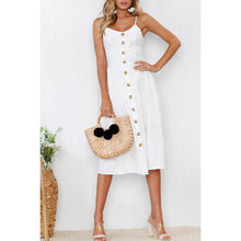 Spaghetti Strap  Single Breasted  Plain  Sleeveless Vacation Dresses