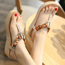 Casual Elastic Band Wedge Heel PU Sandals Woman Shoes