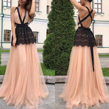 Deep V Neck Backless Maxi Dress