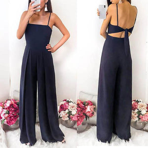 Sexy Sleeveless Strapless Off-Shoulder Chiffon Jumpsuit