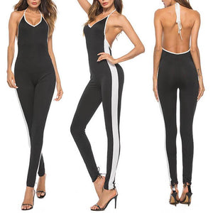 Sexy Halter Backless Slim Jumpsuit