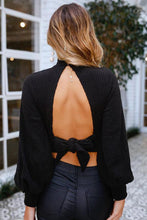 Sexy Backless Long Sleeve T-Shirt Blouse