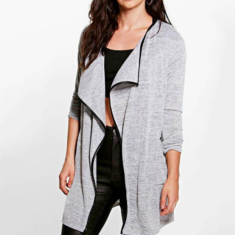 Fashion Stitching Colorblock Long Sleeve Cardigan