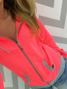 Patch Pocket  Colouring  Hoodies