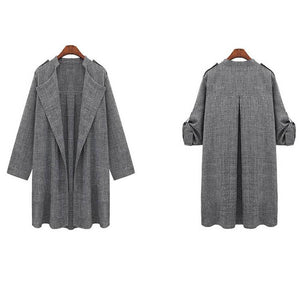 Loose Elegant Pure Color Coat