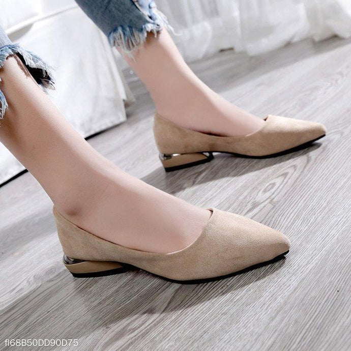 Shallow Mouth Pointed Suede Women's Shoes