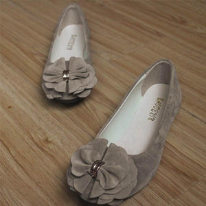 Pointed Flat Shoes Suede Women's Shoes