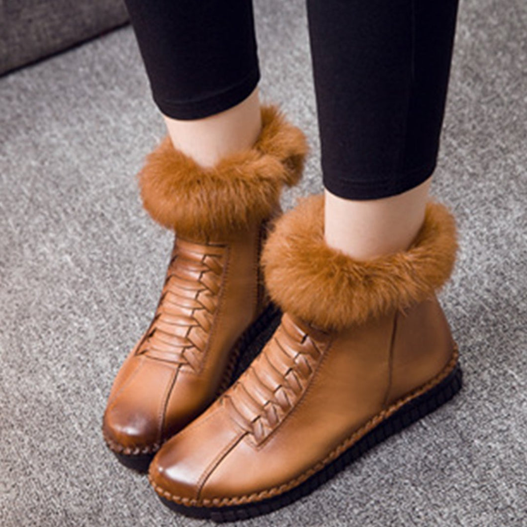 Casual Handmade Leather Women's Boots