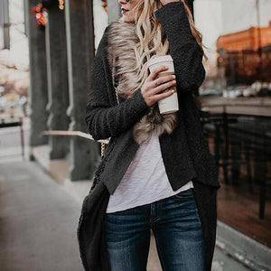 Winter Fur Collar Cardigan Coat