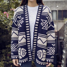 Retro Geometry Knitted Women's Cardigan