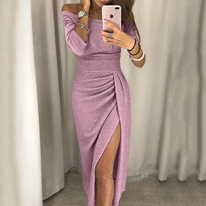 Open Neck Collar Bodycon Dress