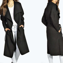 New Woolen Belt Slim Coat Outwear