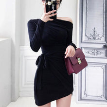 New Slim Smocked Shoulder Bodycon