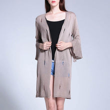 Casual Thin Hollow Out Knit Sunscreen Cardigan