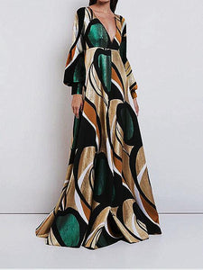 Elegant And Fashionable   Print  Maxi Dress