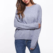 Round Collar Long Sleeve Knitting Sweater