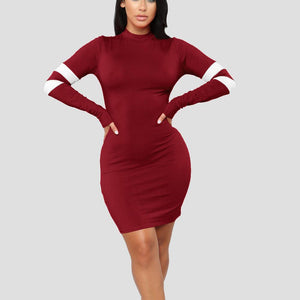New Slim Sexy Stitching Bodycon
