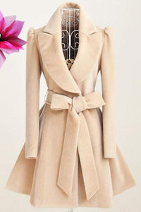New Fashion Solid Color Woolen Coat