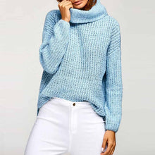 High Collar Bat Sleeve Loose Thick Sweater
