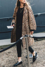 🔥Elegant Stylish Loose Leopard Print Long Sleeve Coat Cardigan