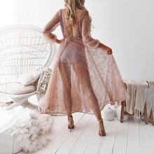 有视频2019 Women's Long Skirt Dress Deep V Sparkling Sequin Dress