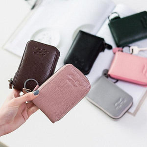 Genuine Leather 6 Colors 11 Card Slots Casual Card Pack Purse For Women