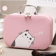 Cute Cat Portable Cosmetic Bag & Small Size Make-Up Case