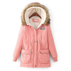 Fur Collar Jacket Thick Hooded Warm Cotton Parka Outwear
