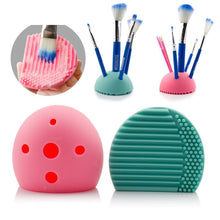 Egg Cleaner Holder Silicone Washing Brush Scrubber