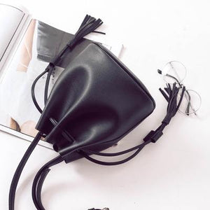Tassel Bucket Crossbody Bag