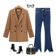 Women's Jacket Wild Loose Long Section Suits Coat