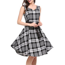 Cotton Plaid Sleeveless Skater Dress