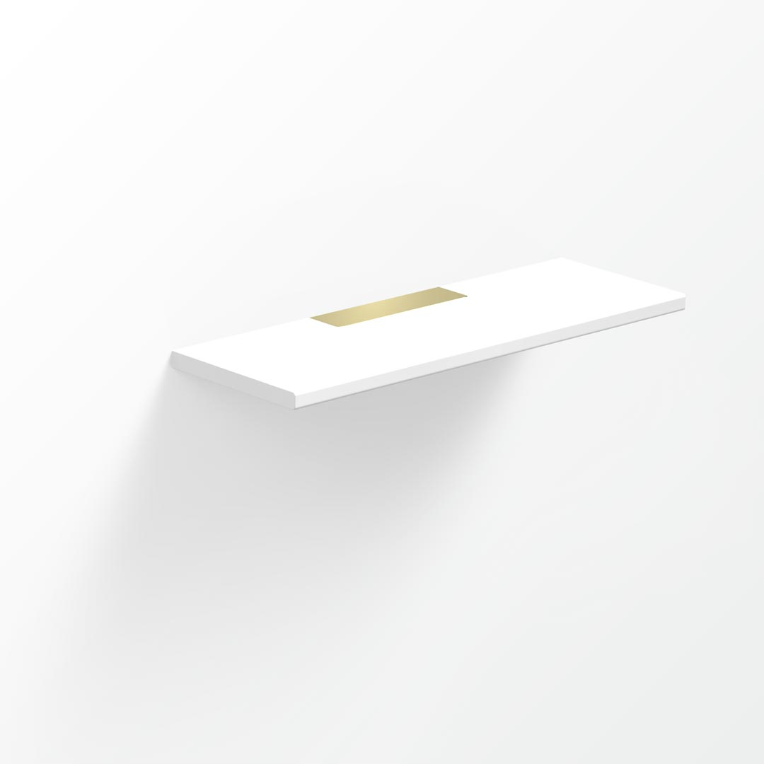Above Solid Surface Shelf - 30x10cm