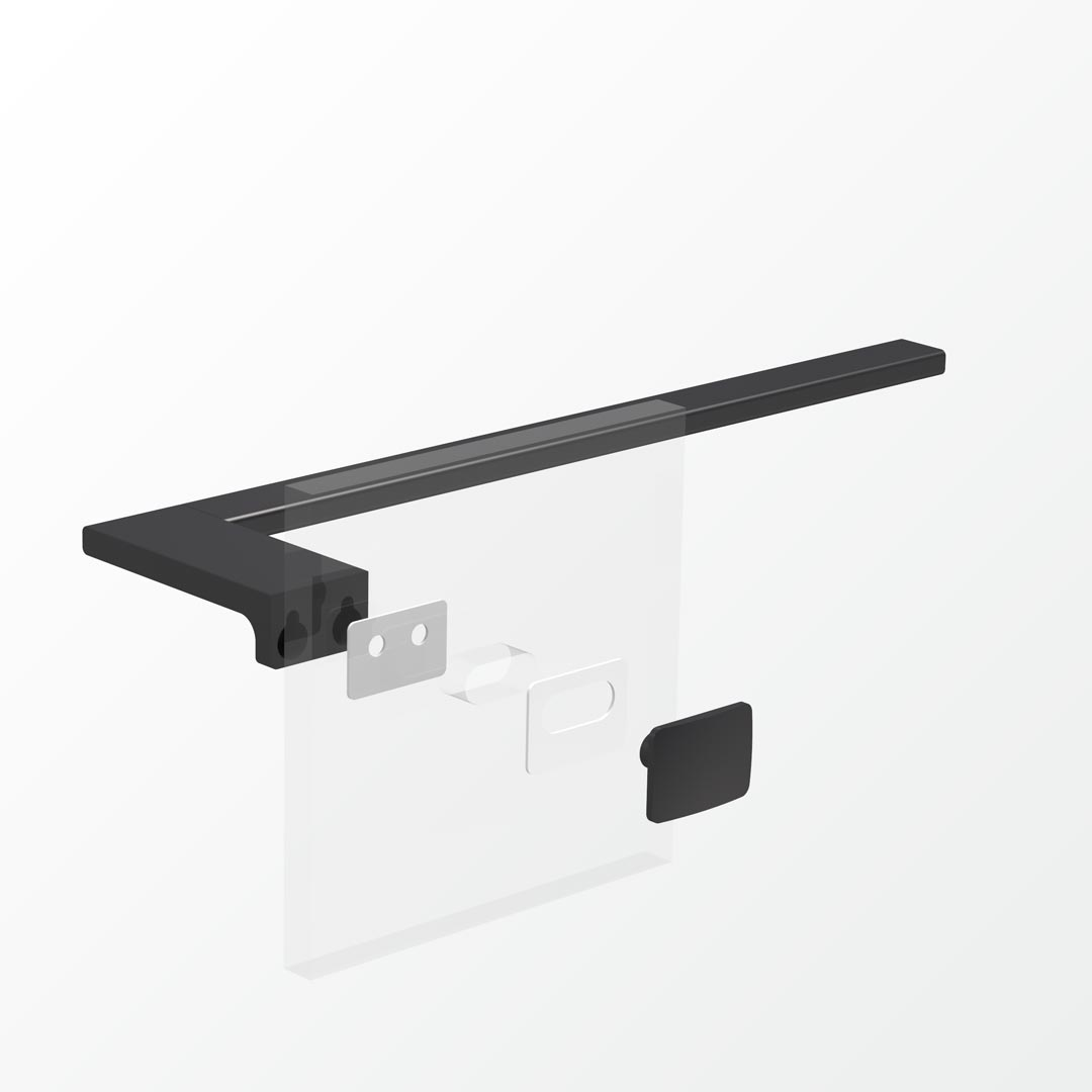 Above Glass Mounting Kit - Double