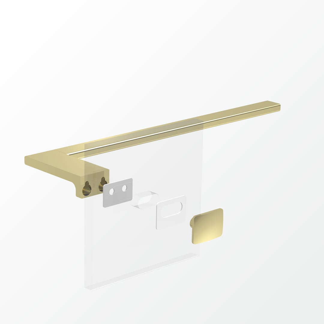 Above Glass Mounting Kit - Double     Also SoldAs BEZTGFK-D