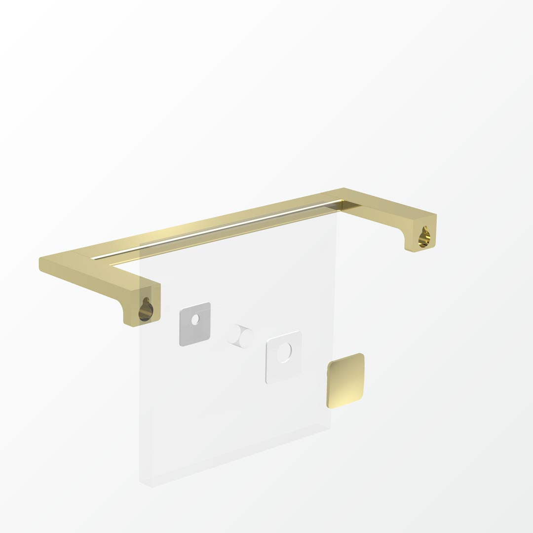 Above Glass Mounting Kit - Single      Also SoldAs BEZTGFK-S