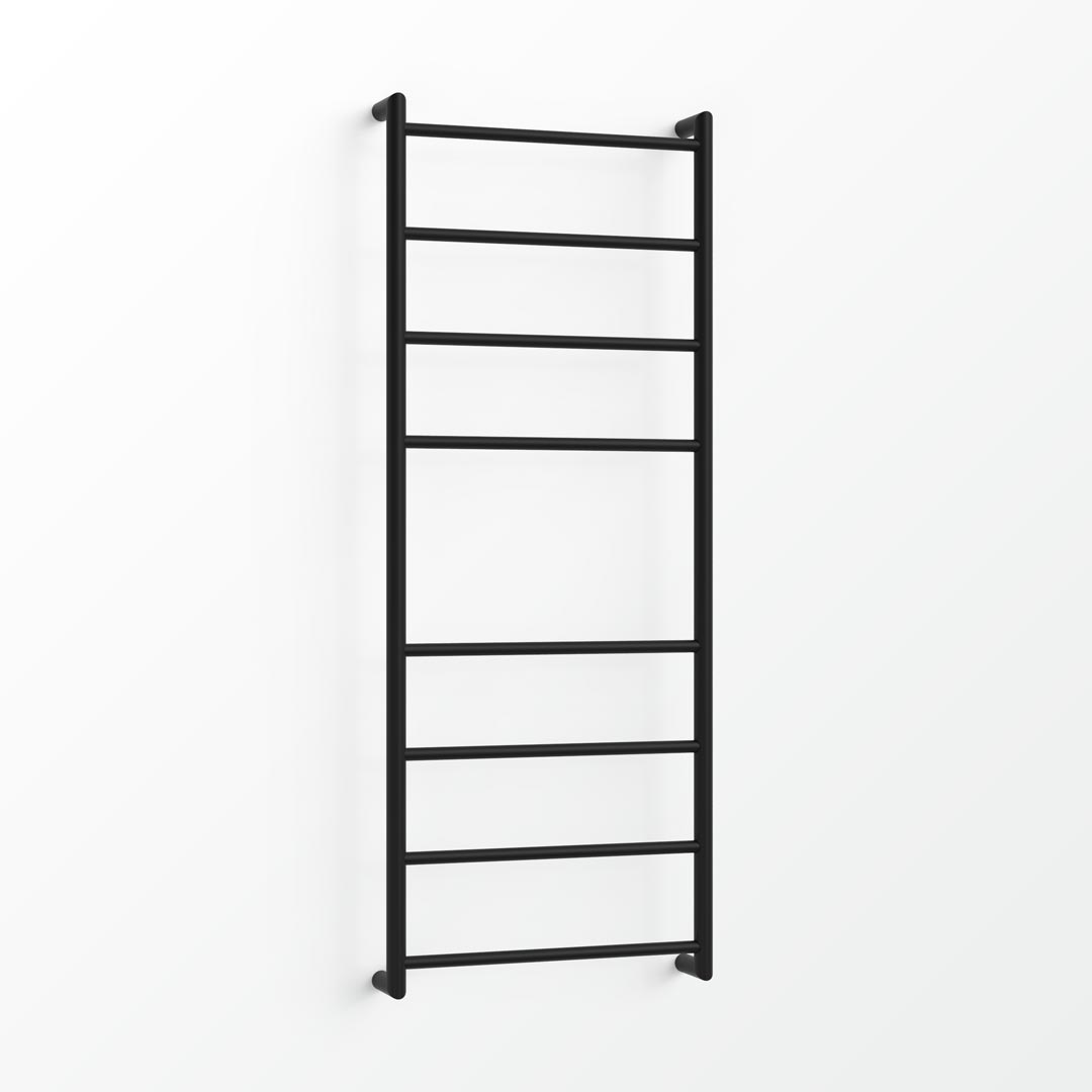 (Clearance) Fluid Non-Heated Towel Ladder - 130x48cm Satin Black