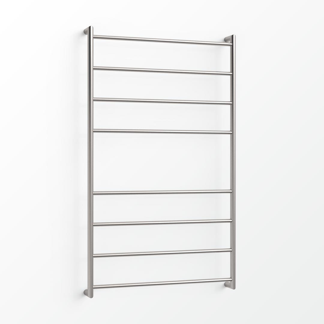 (Clearance) Fluid Heated Towel Ladder - 130x75cm (CBL) Brushed Stainless