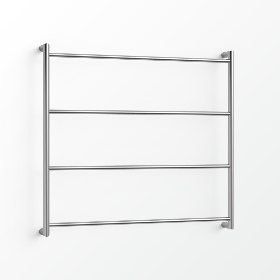 (Clearance) Econ Heated Towel Ladder - 85x90cm (CBL) Brushed Platinum