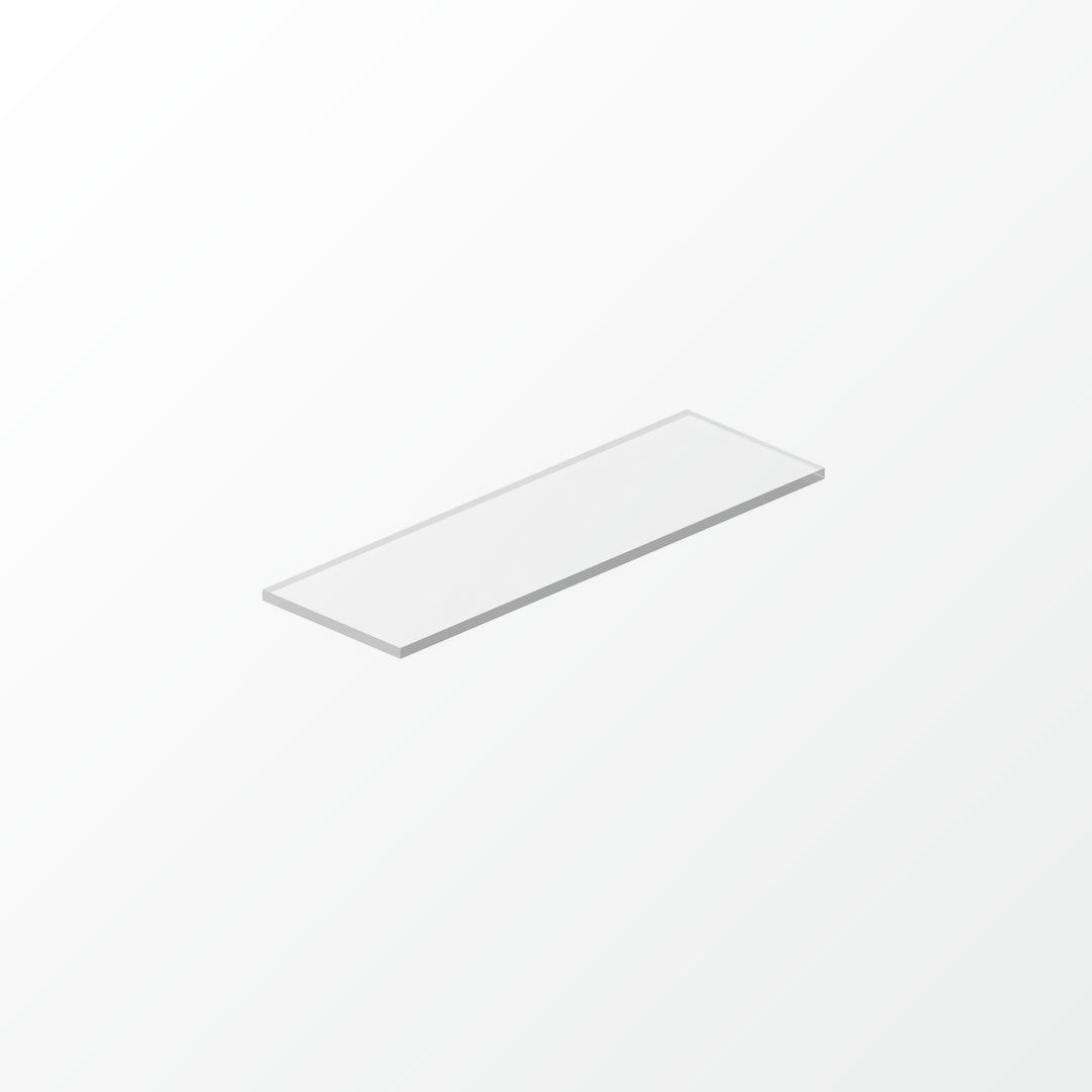 Universal White Glass Shelf Pane - 30cm