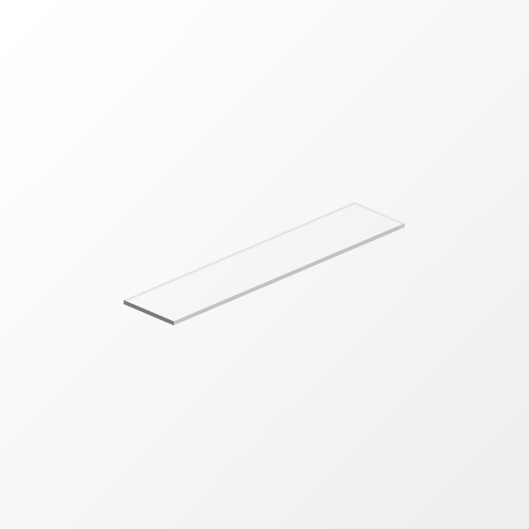 Universal White Glass Shelf Pane - 45cm