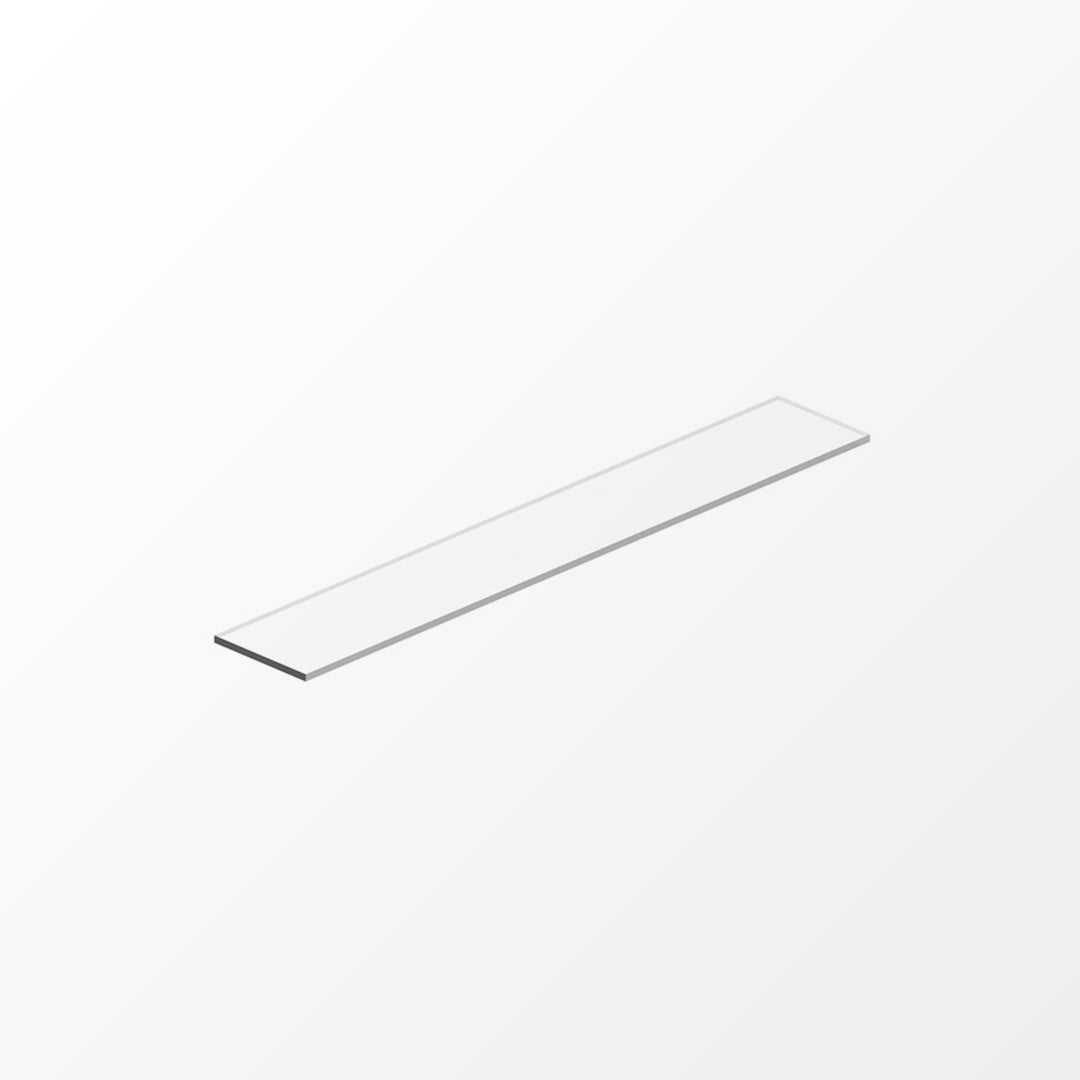 Universal White Glass Shelf Pane - 60cm